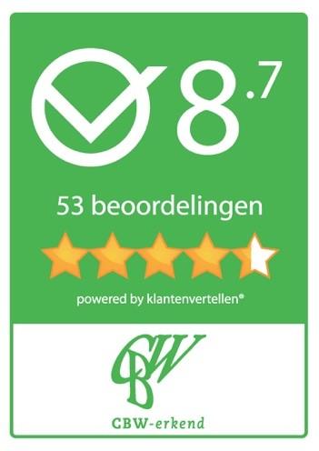 Beoordeling CBW-erkend met een 8.7 CBW-erkend.nl