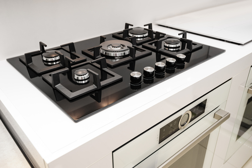 Keuken met gasfornuis of elektrisch koken