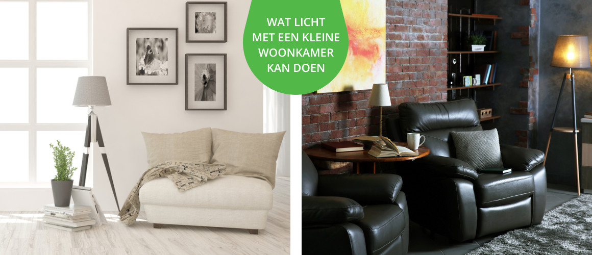 Licht maakt een kleine woonkamer ruimtelijker